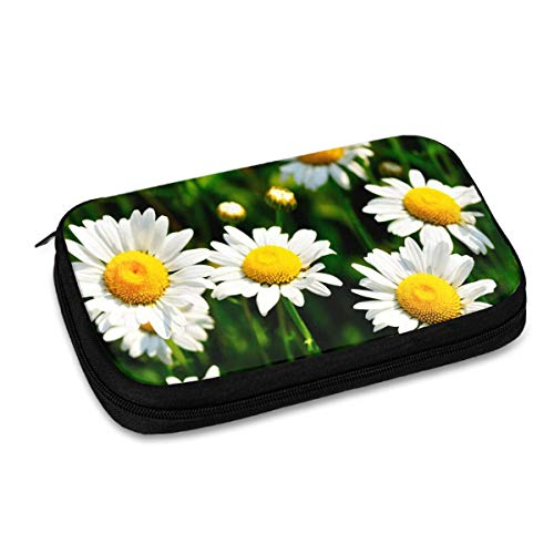 Electronics Organizer Chrysanthemum Daisies Floral Flowers Electronic Accessories Cable Organizer Bag Travel Cable Storage Bag for Cables, Laptop Charger, Tablet (Up to 9.4'')