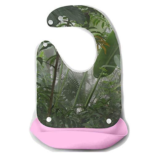 N\A Baberos Unisex Amazon Primeval Jungle Delantal de alimentación desmontable de silicona Toalla de ratón Alimentación de bebé Biberón Babero Babero infantil