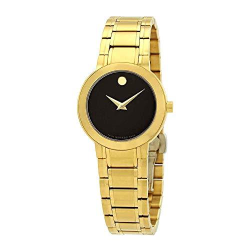 Movado Reloj de Mujer Cuarzo 28mm Correa de Acero Color Negro Caja de 606942