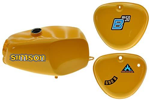 Büffeltank Set mit Seitendeckel für Simson S50 S51, Saharabraun I, innen versiegelt