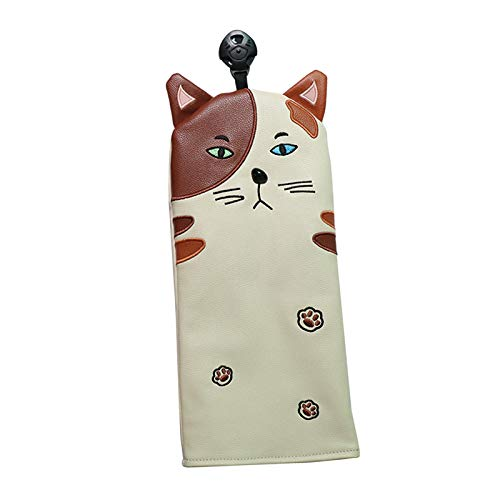 Hellery PU Golf Cat Kopfbedeckungskappe Passend für Fairway FW UT Golf Club - für FW, 30,5x14,5 cm