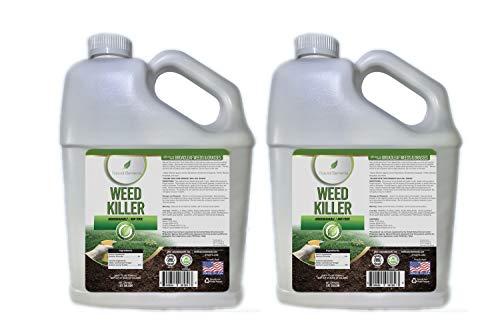 Natural Elements Weed Killer | Pet Safe, Safe Around Children | Natural Herbicide (2 Pack - 1 Gallon)