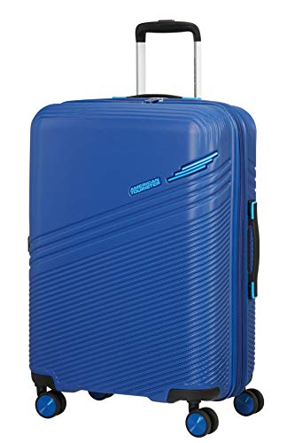 American Tourister Triple Trace Spinner M Expandable Case, 67 cm, 69.5/79.5 L, Blue (Navy/Blue)