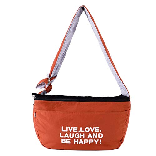 Alfie Pet - Piml Pet Sling Carrier with Adjustable Strap - Color: Orange, Size: Large