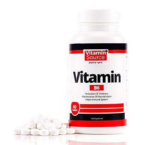 Vitamin B6 for Immune System Support & Booster Tablets Vitamin B6 Supplements