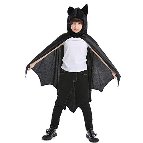 GREAHWD vestito pipistrello Bambini Carnevale Costumi Halloween Festa Cosplay di Pipistrello o Vampiro