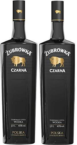 2 Flaschen Zubrowka Czarna Wodka a 0,7L 40% Vol.