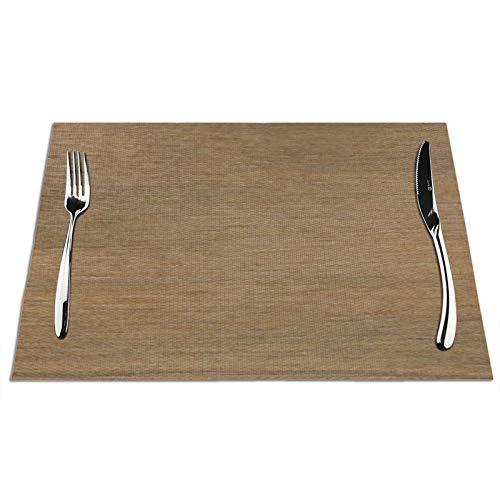 KAZOGU Juego de 4 manteles individuales de madera de nogal americano natural, fácil de limpiar, lavables, 4 unidades