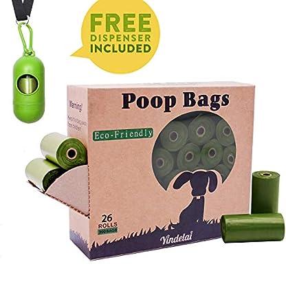Dog Poop Bags Biodegradable 26 Rolls (390 Counts) Dispenser, Scented Leak-Proof Dog Waste Bags 2