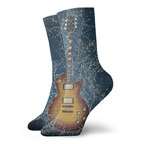 BEDKKJY Calcetines Deportivos Guitarra eléctrica Diseñador Abstracto Hombres Calcetines de Fiesta de Media Informal Liquidación para niñas