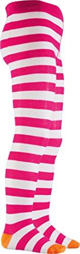Playshoes Mädchen Ringel, Oekotex-100 Standards Strumpfhose, Rosa (Pink/Weiß 172), 122