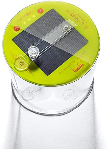 MPOWERD Luci Outdoor 2.0: Solar Inflatable Light, Excellent Hiking, Camping, Backpacking Lantern, 75 Lumens, Lasts 24 Hours, No Batteries Needed, Waterproof, Lightweight, Durable