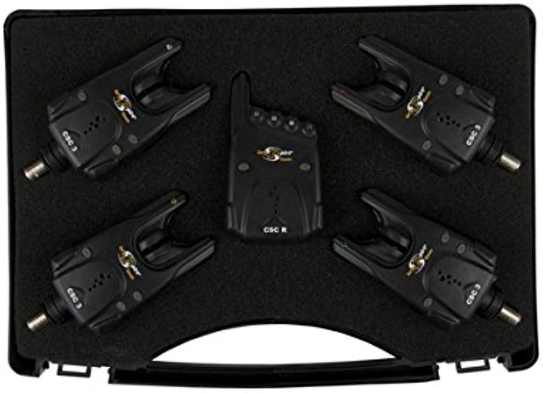 Carp Spirit CSC3 Alarm Set 4 + 1 CSACC490021 Bissanzeiger Funkbissanzeiger Set