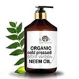 B.O.T cosmetic & wellness Aceite de Neem Virgen Prensado en Frío Primera Presión 100% Puro Bio Aceite Vegetal Non Refinado (250 ml) Azadirachtin 3123.32 ppm.