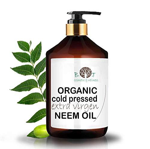 Aceite de Neem Virgen. 100% Puro. Aceite Vegetal Prensado en Frío. Sin Refinar. Con Certificado BIO (250 ml)