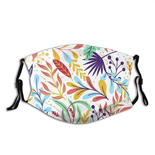 Passionate Summer Fancy Design - Passionate para la cara, unisex, reutilizable, resistente al viento, antipolvo, bandana para exterior, camping, moto, correr, cuello con 2 filtros