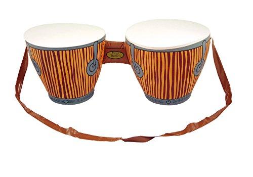 Aufblasbar Bongo Schlagzeug Afrikanische Tropischen Strand Party Kostüm Hawaiisch Luau