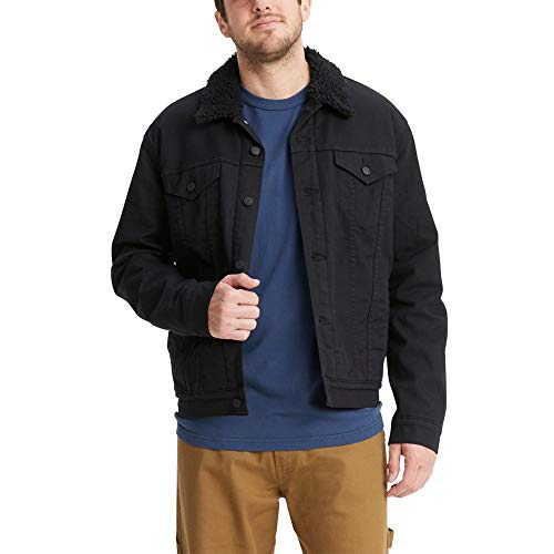 Signature by Levi Strauss & Co. Gold Label Men's Signature Trucker, Gothic-Sherpa Jacket, Small