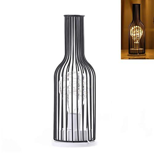 Bouteille de vin innovante en forme de LED fer léger classique élégante lampe de bureau Art Design Led lampe Home Restaurant Bar Mall Décoration élégante bouteilledécoration Halloween Festival de Noël