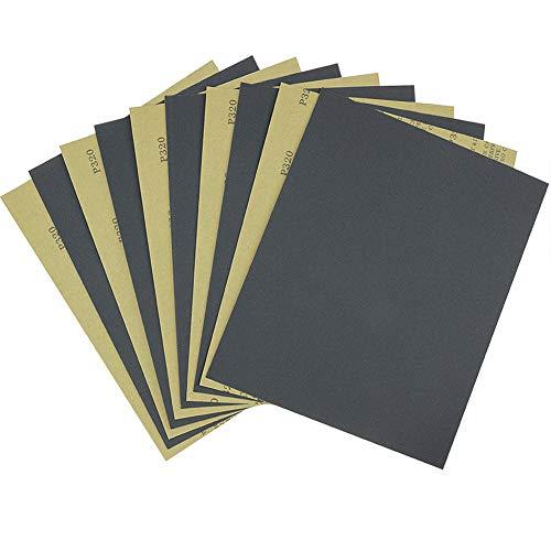 Schleifpapier Set 320 Körnung 280x230mm, Nass Trocken Schileifbogen 10 stück Schleifblätter für Holzarbeiten,Rostentfernung, Metall,Glas Von MAXMAN