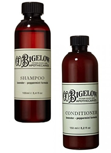 C.O. Bigelow Lavender and Peppermint Shampoo and Conditioner Set, 5.2 Ounces