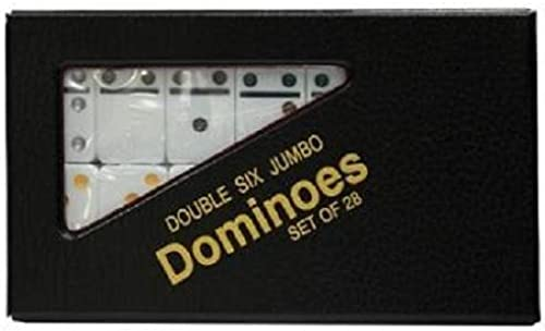 se descuenta Double 6 Jumbo Jumbo Jumbo Dominoes - blanco With Color Dots by CHH  oferta especial