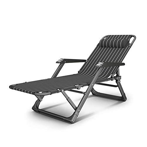 ZXQZ Silla Gravedad Cero Silla plegable - Viaje al aire libre Camping Silla de playa Silla de siesta...