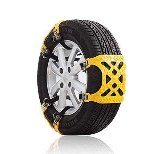 ZHUYUE Robust Schneeketten sind geeignet for Auto SUV Pickup Universalreifen Schneeketten tragbare einfach auf Notfall Traktor-Schnee-Kette 6Pcs Install (Farbe: Schwarz, Größe: Free)