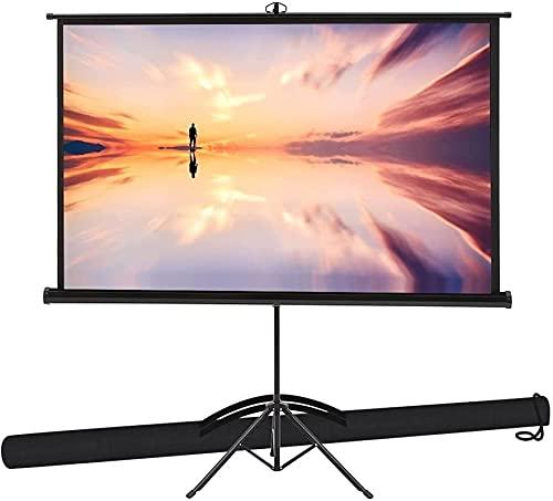 プロジェクタースクリーン 黒い三脚式 60インチ4:3 スタンド付きプロジェクションスクリーン 屋内と屋外 PVCプロジェクションスクリーン 調整可能 黒三脚スタンド しわのないデザイン お手入れが簡単 178°の遠近法の映画またはオフィス 家族 集まる オフィスの投影スクリーン (サイズ : 120インチ4:3)