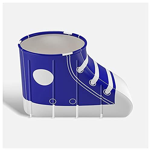 Sits Juego de bañera Plegable, bañera de plástico Plegable y Gruesa Independiente para Adultos, bañera Suave y móvil para SPA de Piscina de inmersión (Color : Blue)