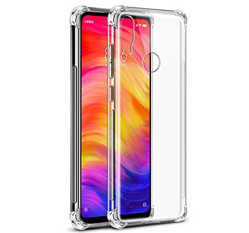 Tumundosmartphone Funda Gel TPU Anti-Shock Transparente para Xiaomi Redmi Note 7
