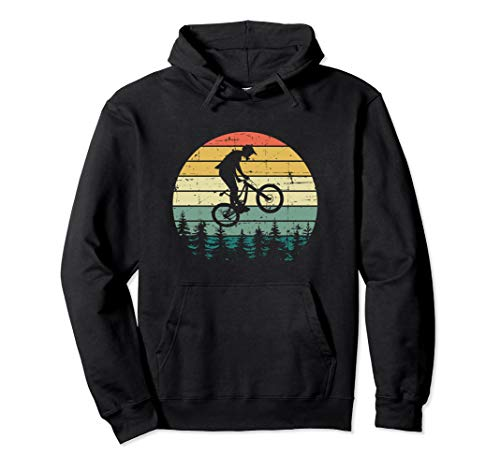 Vintage Retro Mountain Bike MTB Downhill Biking Pullover Hoodie