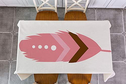 XXDD Mantel de decoración de Flecha de Plumas de Animales de Dibujos Animados Mantel de decoración Impermeable Mantel de Mesa de té Mantel A8 150x210cm