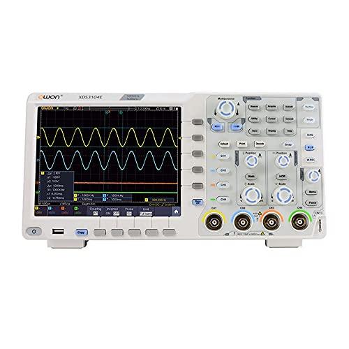 WEI-LUONG Osciloscopio OWON XDS3104E Osciloscopio Digital 4 Canales 100MHz Ancho de Banda Pantalla táctil bajo Ruido USB osciloscopios 40M Longitud de Registro