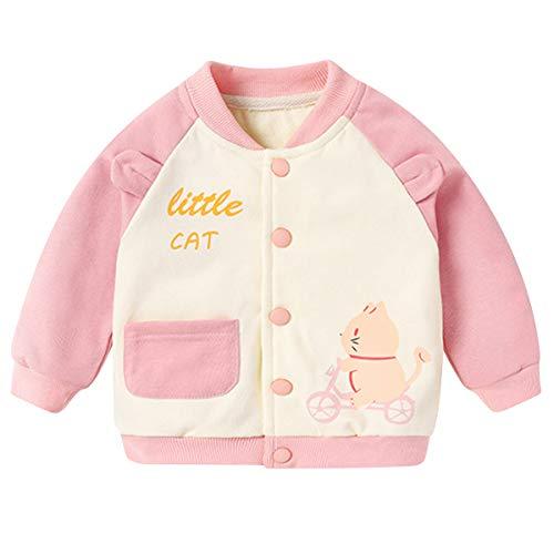 Famuka chaqueta de bebé niño niña chaqueta de transición primavera verano ropa de bebé Chaquetas y abrigos (Rosa, 24 meses)