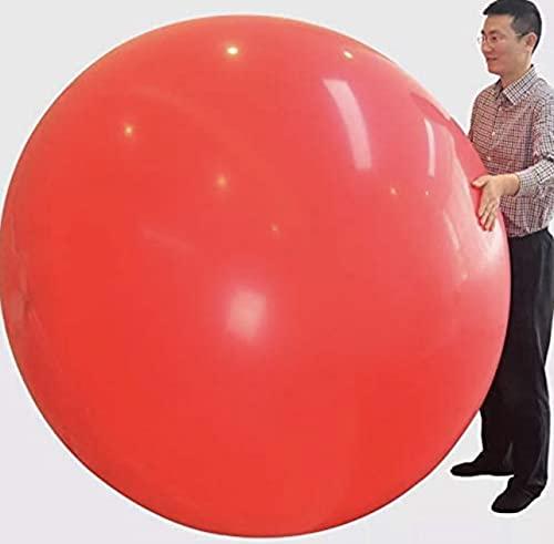 Lot de 2 Ballons Géants rouges - Big Balloons - Ballons Ronds de 150cm 72 pouces - Ballon de Latex Géant - Ballons Géants pour fête Anniversaire Anniversaire Mariage Décorations d'événements