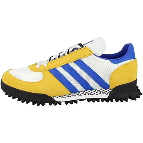 adidas Marathon TR, Chaussure de Piste d'athltisme Homme, FTWR White Bold Gold Blue, 41 1/3 EU