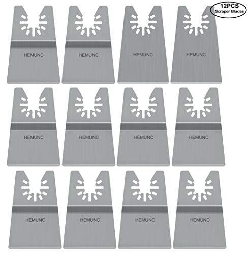 Oscillating tool scraper blades set, include oscillating rigid scraper blade 2pcs, flexible multitool scraper blades 10pcs, universal fit oscillating multitool scraper blades for carpet tile adhesives