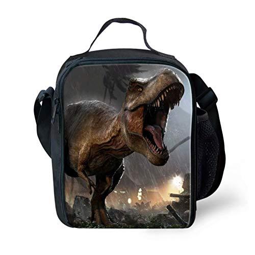 POLERO Kühltasche Picknicktasche Thermotasche Faltbar Mittagessen Isoliertasche Lunch Tasche für Outdoor Camping Grill Reisen Tyrannosaurus Rex Dinosaurier
