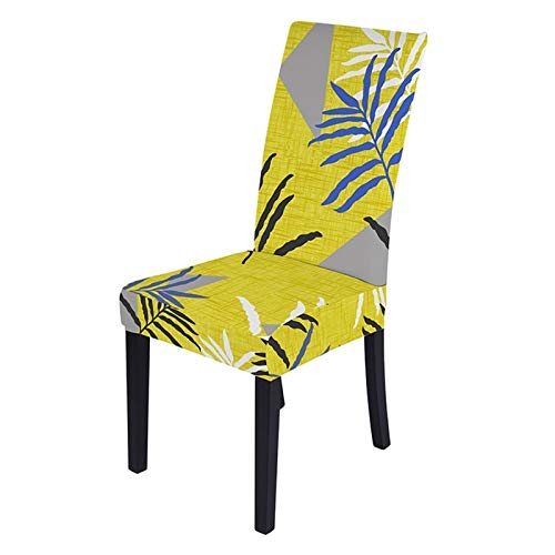 YAYANG Chair Cover 1/2 / 4/6 stücke Stuhlabdeckung Flexible Esszimmerstuhlabdeckung Für Küche Flexible Sitzbezug Bankettdekoration Casual (Color : D Chair Cover, Specification : 1PC)