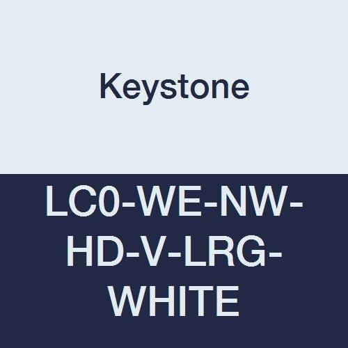 Keystone Sale special price LC0-WE-NW-HD-V-LRG-WHITE Heavy Duty Lab C New arrival Polypropylene