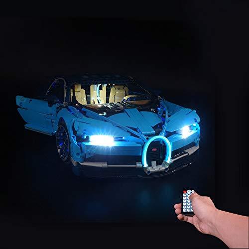 BSPAS LED Beleuchtungsset für Lego 42083 Technik Bugatti Technic Chiron, Beleuchtung Licht Set für Lego Bugatti Technic Chiron 42083 (Nicht Enthalten Lego Modell) (mit Fernbedienung)