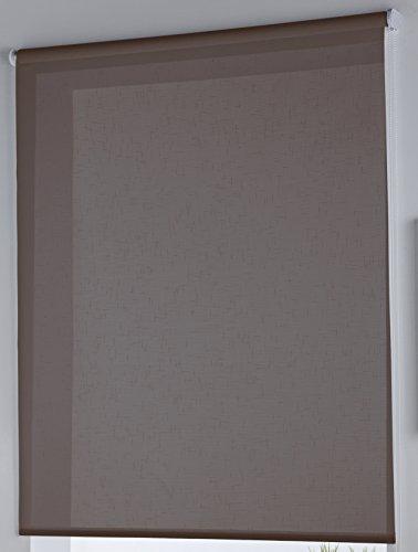 Rollertor Dresde - Estor Enrollable, Tela, Marrón, 110 x 175 cm