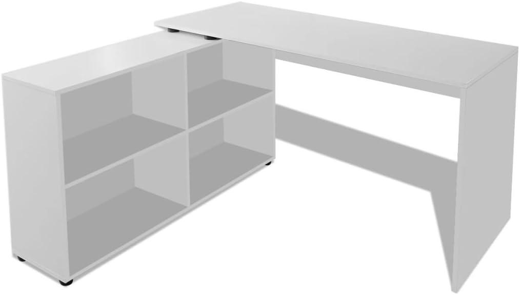 vidaXL Computertisch Winkelschreibtisch PC Eckschreibtisch B/ürotisch Eiche