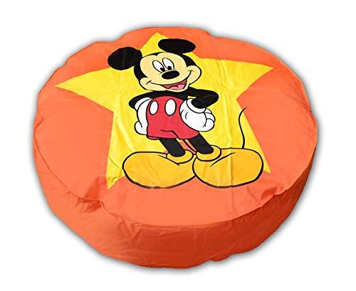 Pouf Géant Orange Disney Mickey Mouse ø 110 cm fabriqué en France
