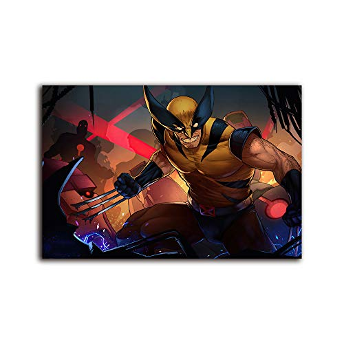 wall art for living room wolverine comic suit artwork ,Painting Canvas Modern Seascape Home Office Decor 16x12 inch