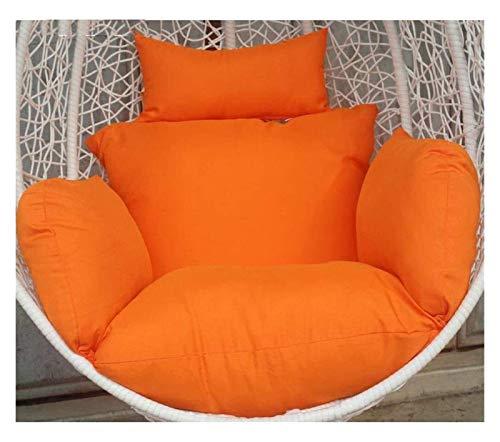 BDBT Swing Chair Cushion Swing Basket Cushion Pads, Furniture Outdoor Patio Wicker Hanging Basket Swing Chair Tear Drop Egg Chair Cushion (Color : Orange)