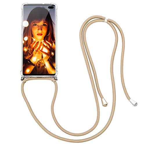 KAPUCTW Capa de cordão de TPU transparente transparente para Samsung Galaxy A50 / A30S / A50S 6,5 polegadas com cordão trocável, capa de celular com alça de cordão para pescoço à prova de choque, luxuosa 2