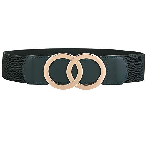 ALAIX Women's Belts Stretchy Dress Belts Coat Jumpsuit Fashion Belt Elastic Elegant Wide Waist Belt Armygreen