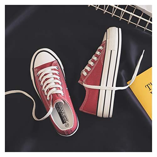 YTG Mujer de la plataforma Zapatos del verano nuevas mujeres de la manera de los zapatos ocasionales sólidos alto de la lona del color del caramelo de las mujeres zapatos casuales zapatillas de deport